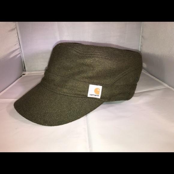 Women's CARHARTT olive green Wool surplus hat NEW!